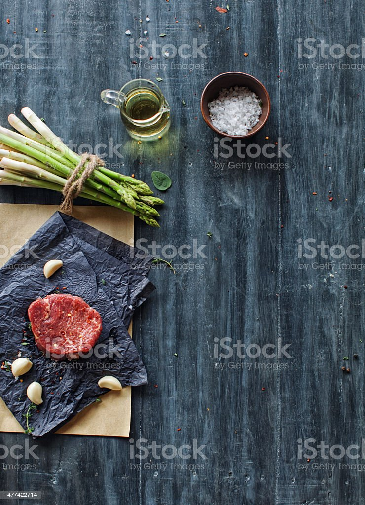 Raw tenderloin steak stock photo