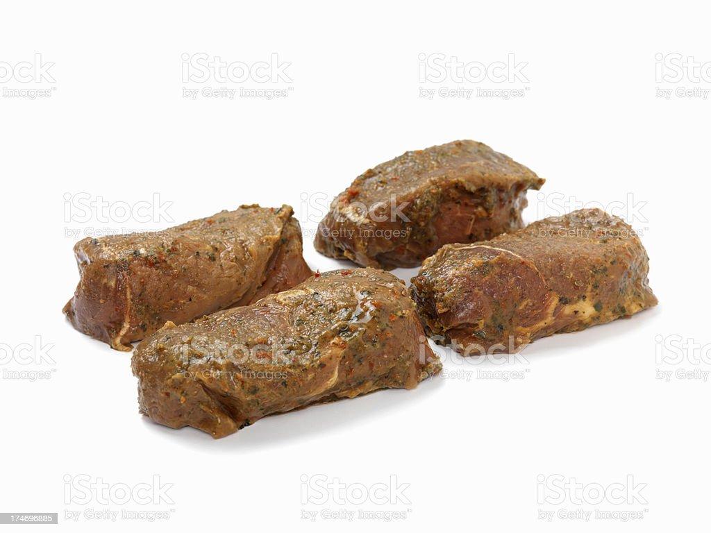 Raw Top Sirloin Steaks royalty-free stock photo