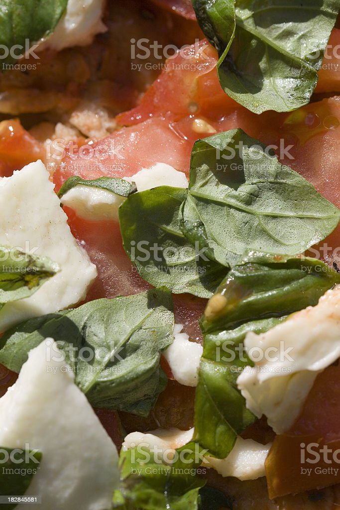 raw topping pizza stock photo