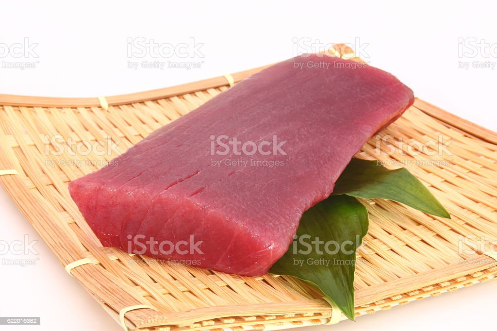 Raw tuna, Japanese food - foto de stock