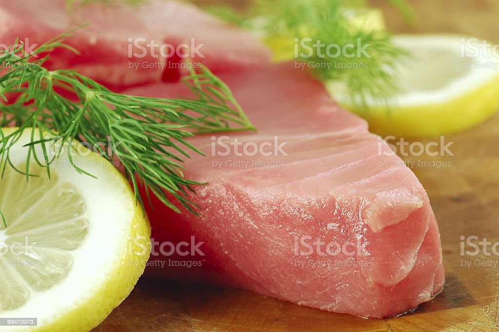 Raw Tuna Steak royalty-free stock photo