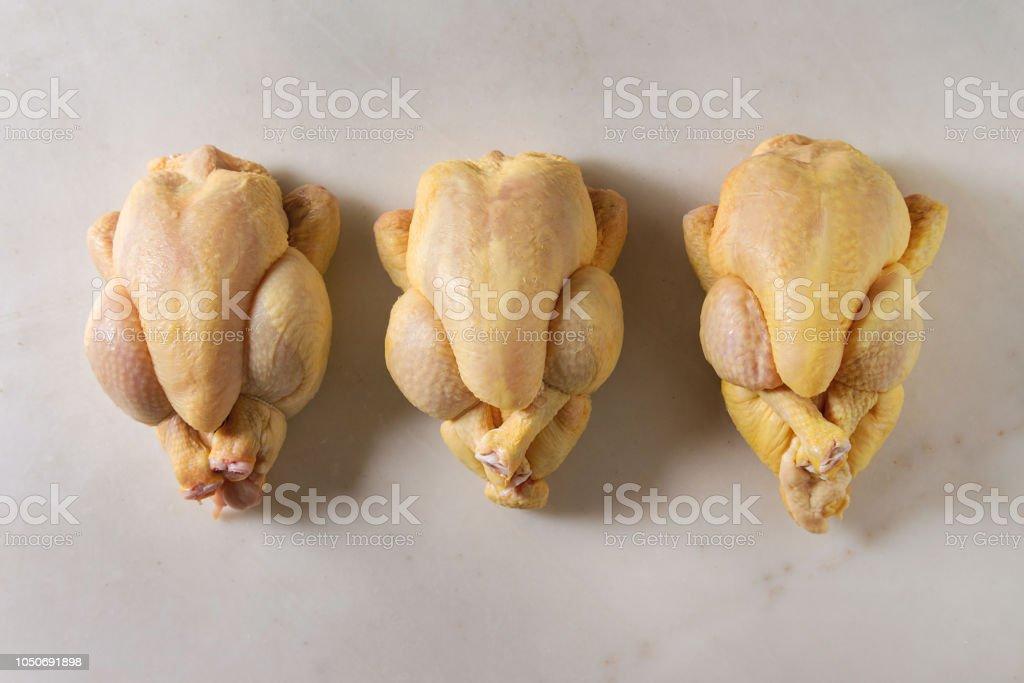 Raw uncooked chicken stock photo