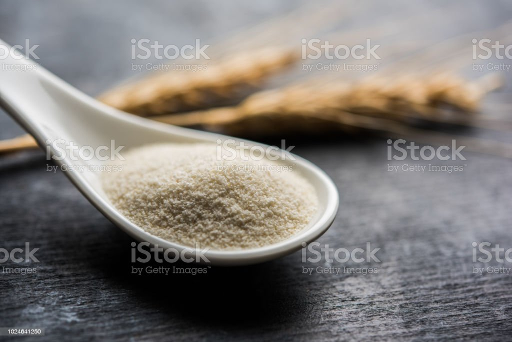 Raw Unprepared Semolina Flour Also Known As Rava Powder In