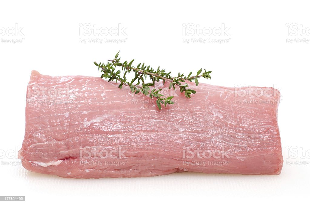 Raw veal tenderloin stock photo