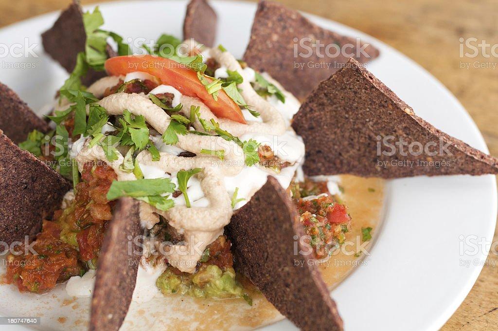 Raw, Vegan and Organic Nachos royalty-free stock photo