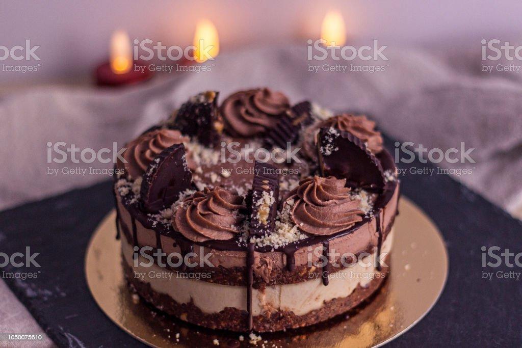 Groovy Raw Vegan Birthday Cake Stock Photo Download Image Now Istock Funny Birthday Cards Online Eattedamsfinfo