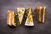 Raw vegan pistachio carrot cake