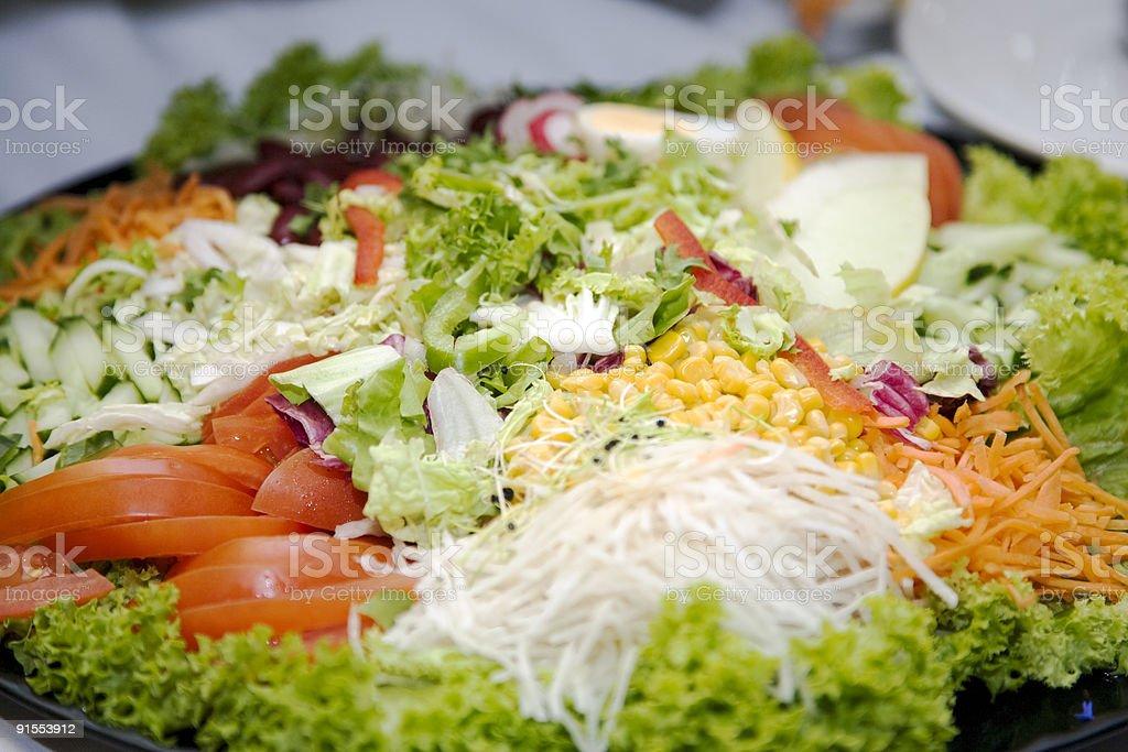 raw vegetable salad stock photo