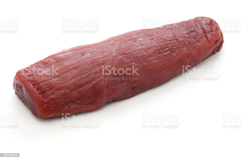 raw venison meat stock photo