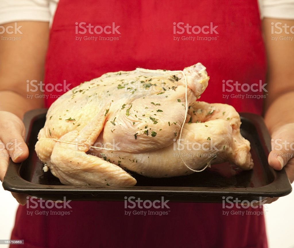 Raw Whole Chicken royalty-free stock photo