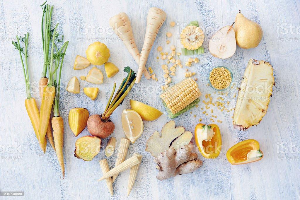 Raw yellow foods stock photo