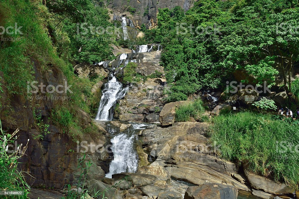Rawana Ella Waterfall stock photo