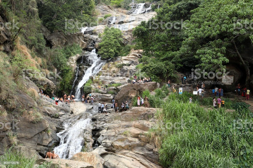 Rawana Wasserfall in Sri Lanka stock photo