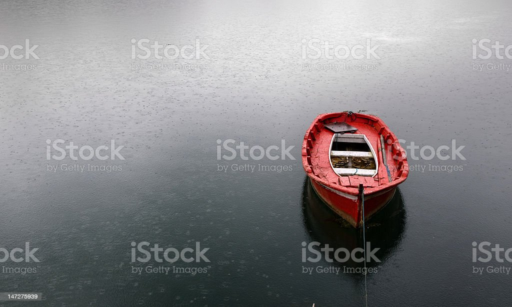 Rawboat royalty-free stock photo