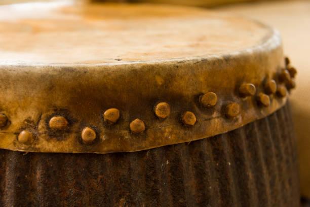 Rawhide Drum stock photo