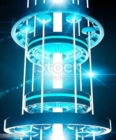 istock Ray of light, channeling energy, energy creation, science and fiction, spaceship, laser beam, infrastructure of the future 1125145278