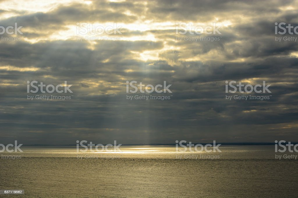 Ray of Light Through the Clouds stock photo