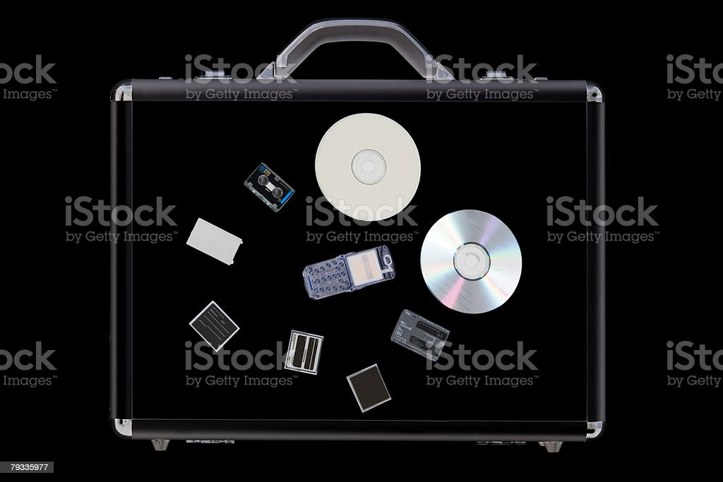X-ray de objectos na Pasta executiva foto de stock royalty-free