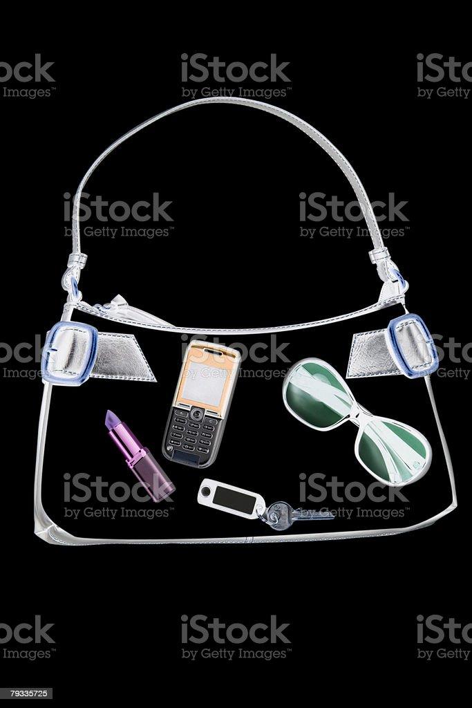X-ray of Gegenstände in Handtasche – Foto
