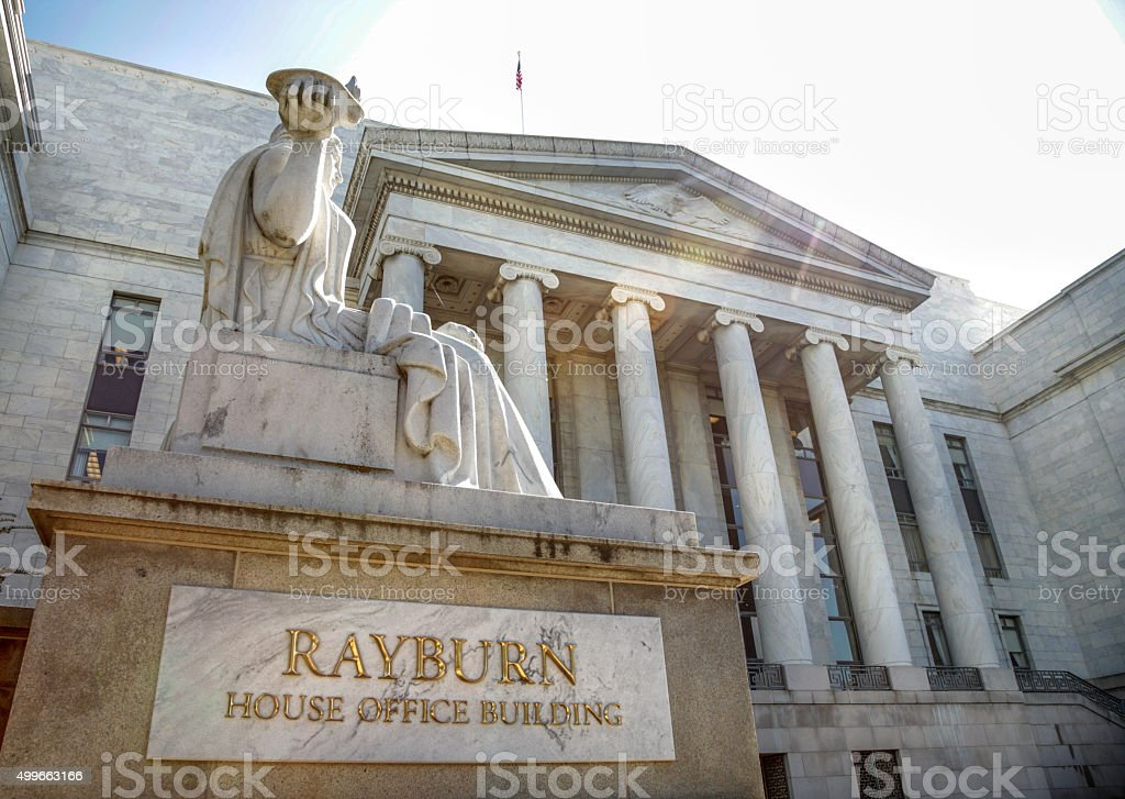 Rayburn House Office Building on Capitol Hill stock photo