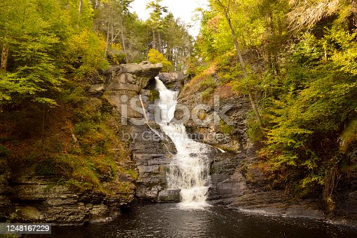 Raymondskill Falls in Delaware Water Gap National Recreation Area in Pennsylvania, USA.