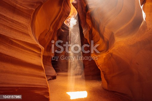 istock Rays of light in Antelope Canyon 1043157980