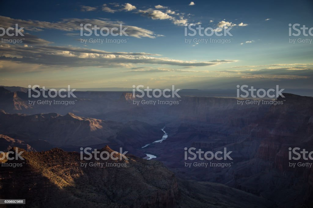 Rays of Light in Grand Canyon stock photo