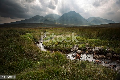 Dramatic landscape in Glencoe valley - Scotland - UK.