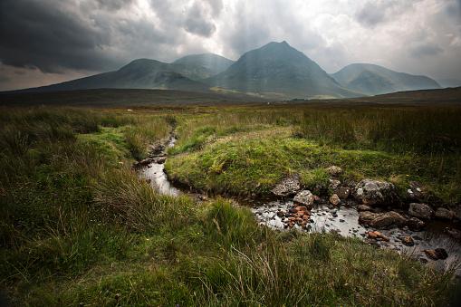 Dramatic landscape in Glencoe valley - Scotland - UK.