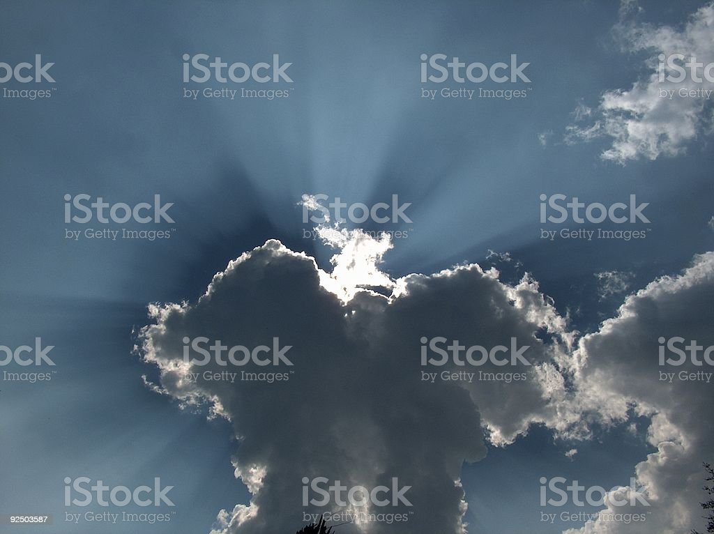 rays of light royalty-free stock photo