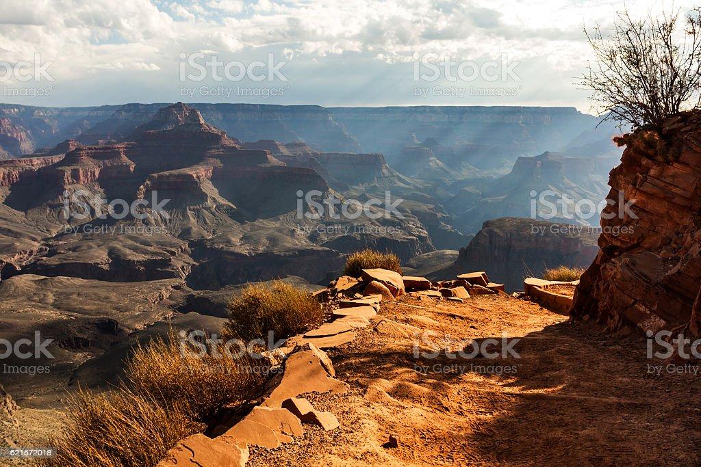 Rays over Grand Canyon photo libre de droits