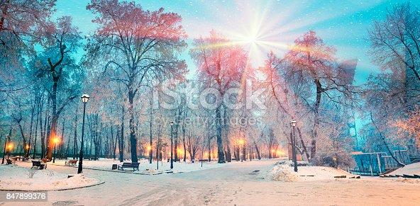 istock Rays snow star 847899376
