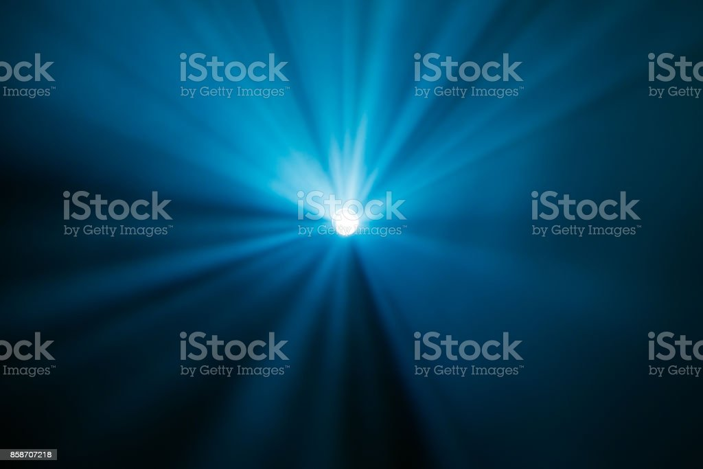 Rays theatrical spotlights on the stage during the performance. Lighting equipment. The lighting designer. Theatrical smoke. The art and creativity stock photo