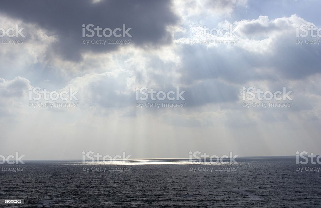 Rays through clouds royalty-free stock photo