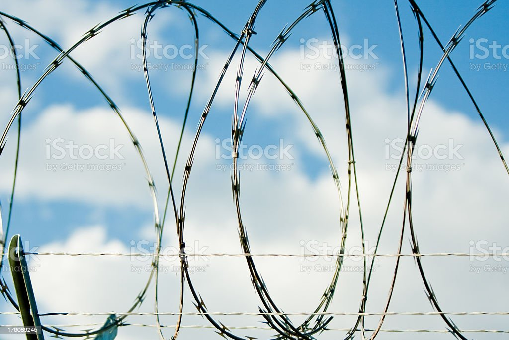 Razor Barbed Wire royalty-free stock photo