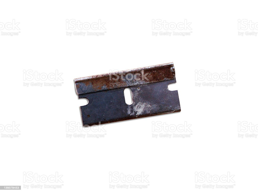 Razor Blade - CLIPPED royalty-free stock photo