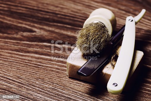 istock razor sharp soap brush retro 852668150