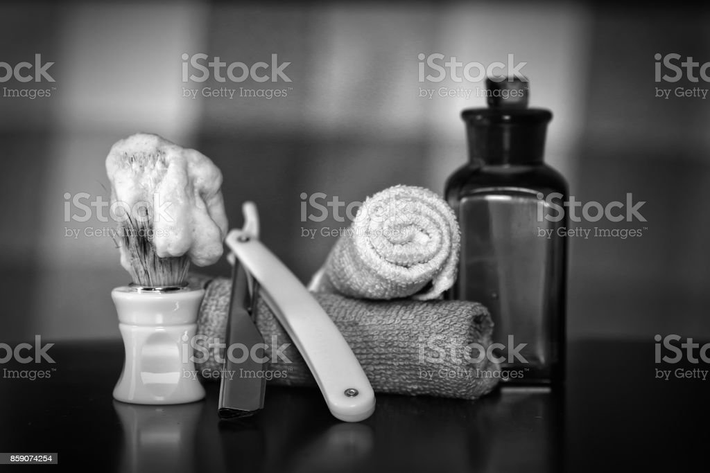 razor shaving accessories razor stock photo