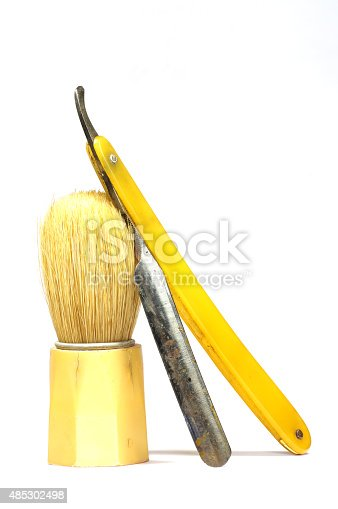 483333652 istock photo razor shaving brush 485302498