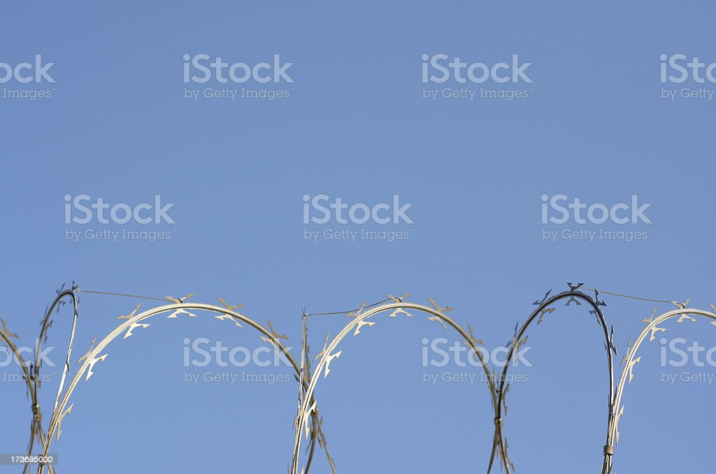 Razor wire royalty-free stock photo