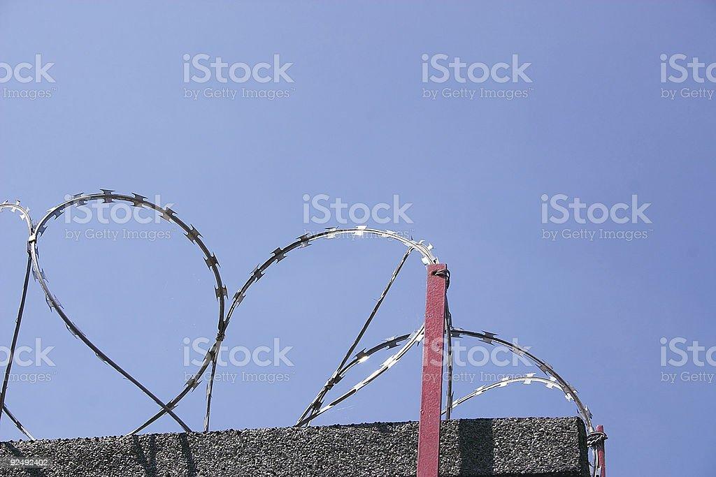 razor wire royalty-free stock photo