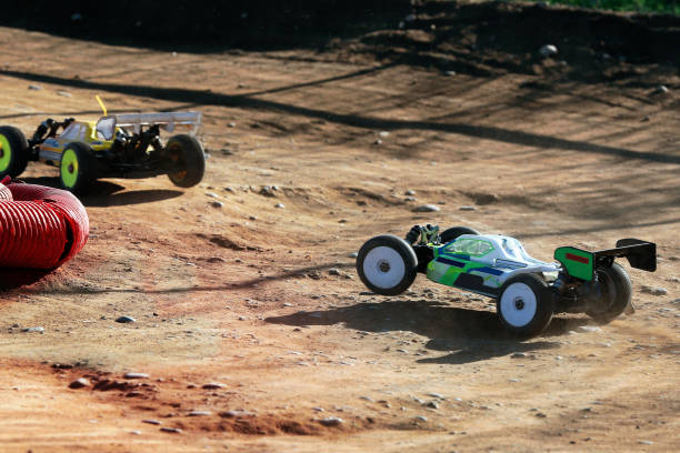 rc racing cars stock photo