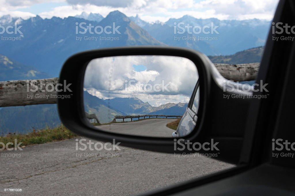 Rückspiegel stock photo