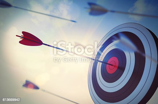 istock Reach a goal among many 613669942