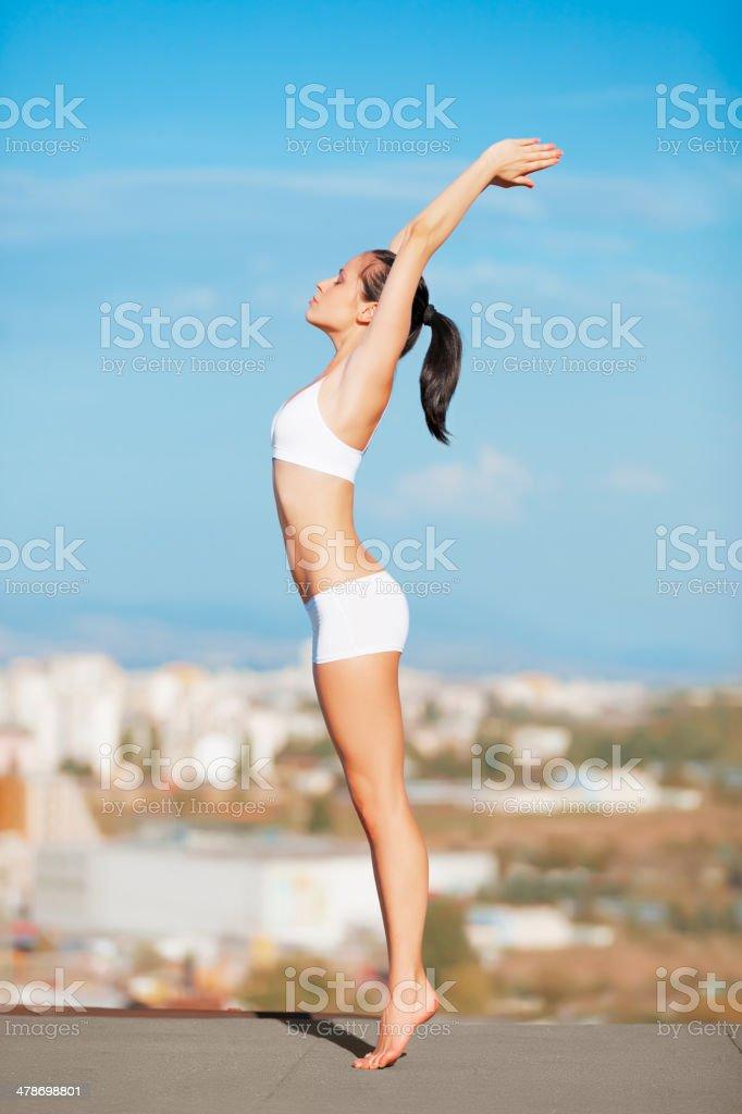 Reach for the sun stock photo