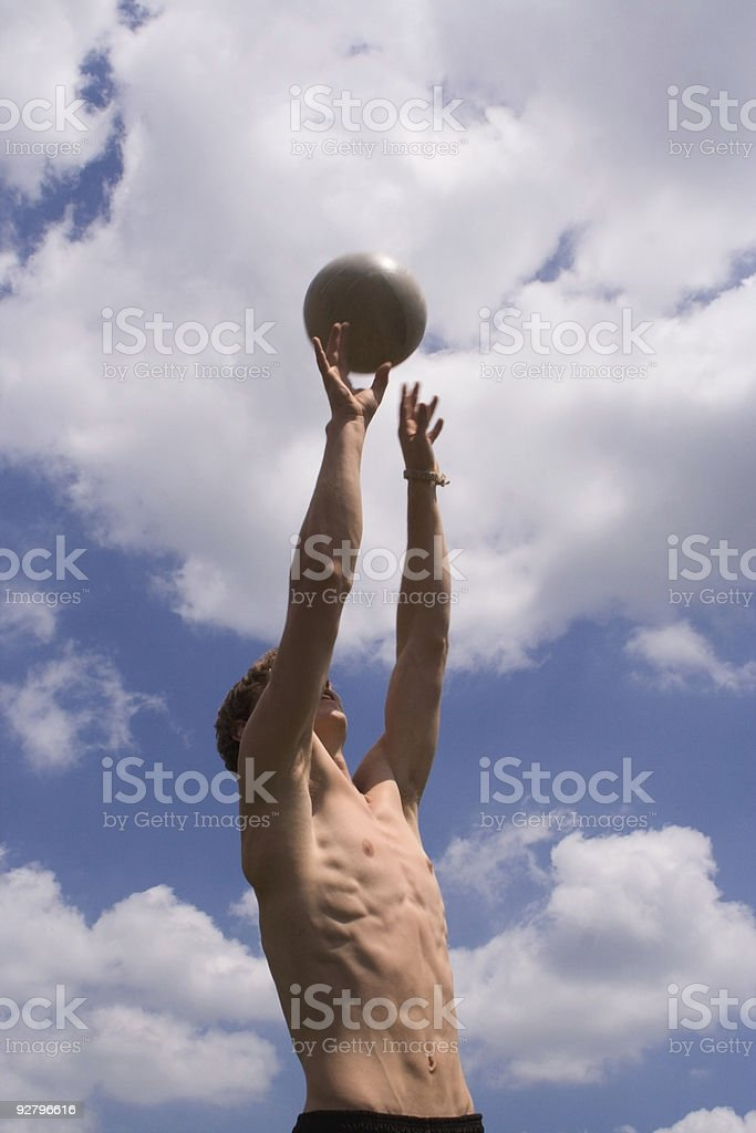 Reach! stock photo