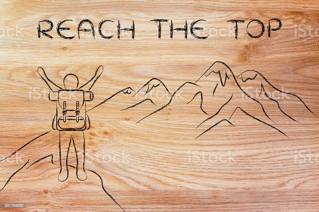 reach the top stock photo
