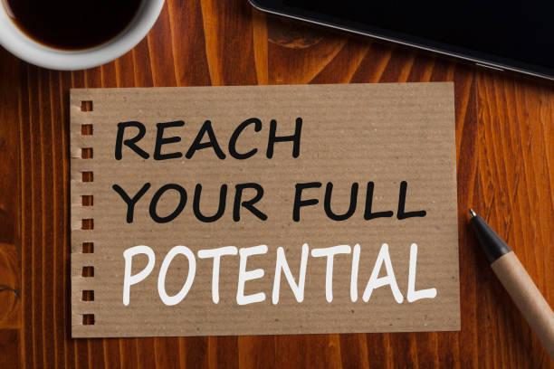 ihr volle potenzial zu erreichen - motivationsfitness zitate stock-fotos und bilder