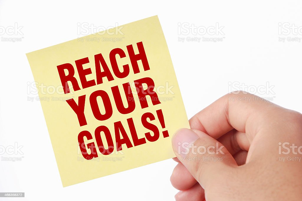 Reach your goals royalty-free stock photo