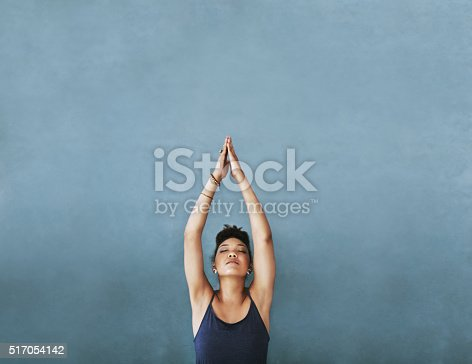 istock Reaching for her fitness goals 517054142